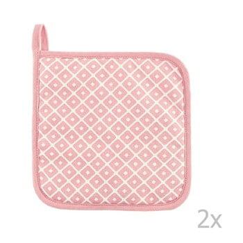 Set 2 șervete termice din bumbac Tiseco Home Studio Dot, roz bonami.ro