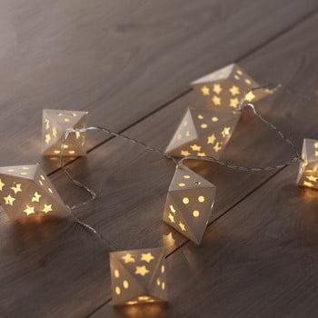 Ghirlandă luminoasă cu LED DecoKing Triangles, lungime 1,65 m, 10 beculețe bonami.ro