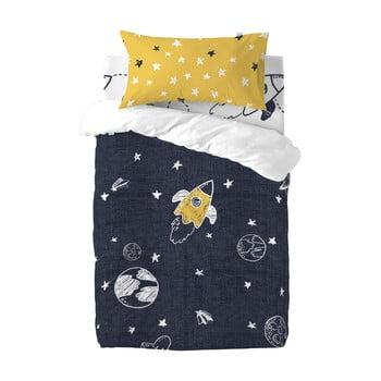 Lenjerie de pat din bumbac pentru copii, pentru pat de o persoană Mr. Fox Starspace,100x120cm poza bonami.ro