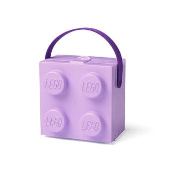 Cutie depozitare LEGO cu mâner, mov bonami.ro