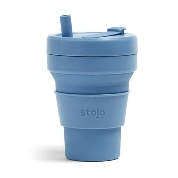 Cană pliabilă Stojo Biggie Steel, 470 ml, albastru poza bonami.ro