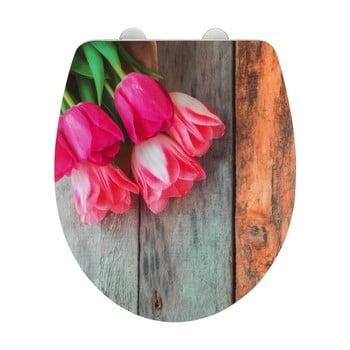 Capac WC cu închidere ușoară Wenko Tulip poza bonami.ro