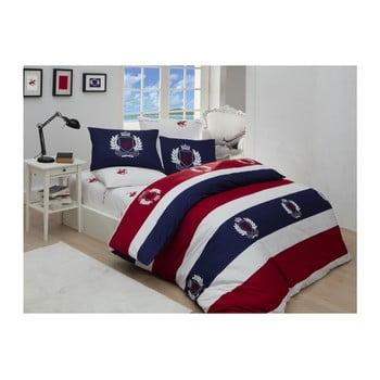 Lenjerie de pat cu cearșaf Beverly Hills Polo Club Cabot, 160 x 220 cm bonami.ro