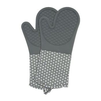 Set 2 mănuși din silicon bucătărie Wenko Oven Grey, gri bonami.ro