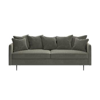 Canapea cu tapițerie din catifea Ghado Esme, 214 cm, bej bonami.ro