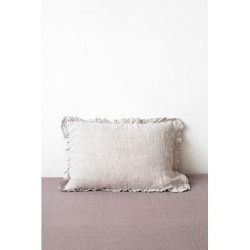 Față de pernă din in cu tiv plisat Linen Tales, 50 x 60 cm, natural bonami.ro