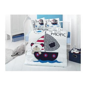 Lenjerie din bumbac ranforsat și cearceaf pentru pat de o persoană Ruhno Lento, 100 x 150 cm poza bonami.ro