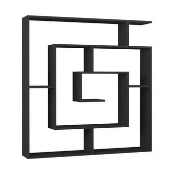Bibliotecă Maze Anthracite, gri antracit poza bonami.ro