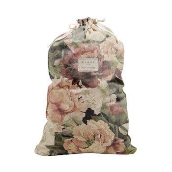 Săculeț textil pentru haine Linen Couture Bag Spring Flowers, înălțime 75 cm bonami.ro
