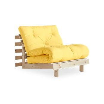 Fotoliu extensibil Karup Design Roots Raw/Yellow bonami.ro