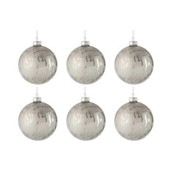 Set 8 globuri din sticlă pentru Crăciun J-Line Baub, ⌀ 8 cm, alb bonami.ro