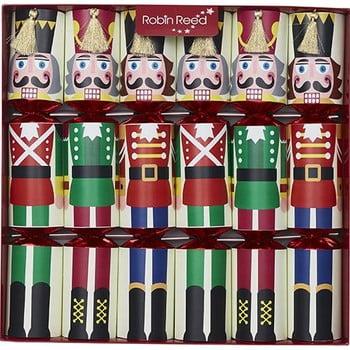 Set 6 pocnitori de Crăciun Robin Reed Racing Nutcracker poza bonami.ro