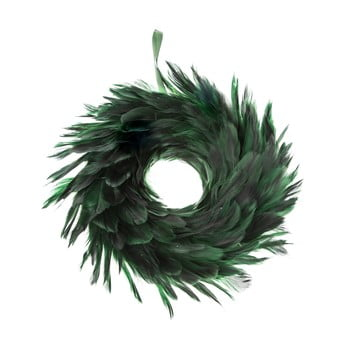 Coroniță de Crăciun cu pene Dakls, ø 14 cm, verde bonami.ro