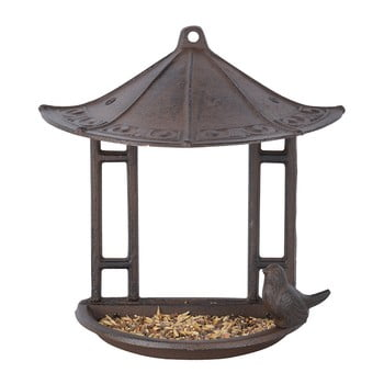 Hrănitoare semicirculară pentru păsări Esschert Design, înălțime 24,4 cm bonami.ro