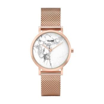 Ceas damă, curea din oţel inoxidabil Cluse La Roche Petite, roz - auriu imagine