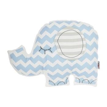 Pernă din amestec de bumbac pentru copii Mike&Co.NEWYORK Pillow Toy Elephant, 34 x 24 cm, albastru poza bonami.ro