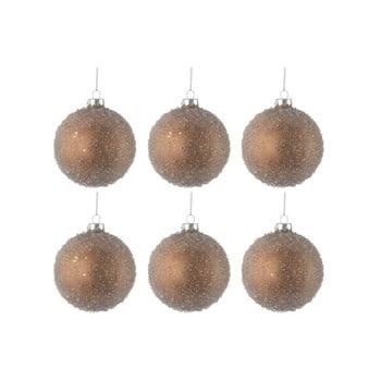 Set 6 globuri din sticlă pentru Crăciun J-Line Bauble, ø 8 cm, auriu bonami.ro