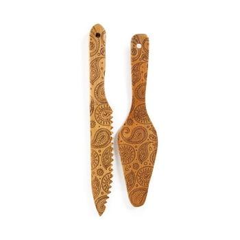 Set cuțit și spatulă din bambus pentru tort Bambum Minnie bonami.ro