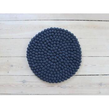 Pernă pentru scaun, cu bile din lână Wooldot Ball Chair Pad, ⌀ 39 cm, albastru închis bonami.ro