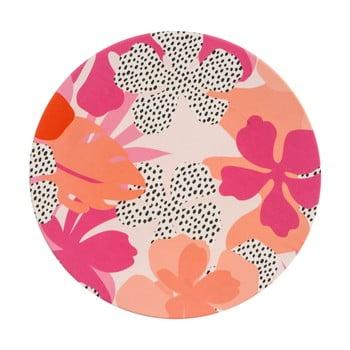 Farfurie pentru picnic Navigate Bamboo, roz - portocaliu bonami.ro