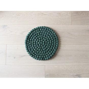 Pernă cu bile din lână pentru copii Wooldot Ball Chair Pad, ⌀ 30 cm, verde închis poza bonami.ro