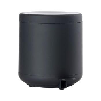 Coș de gunoi cu pedală pentru baie Zone UME, 4 l, negru bonami.ro