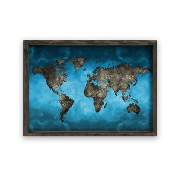 Tablou cu ramă din lemn Night World, 70 x 50 cm poza bonami.ro