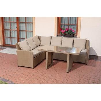 Set mobilier de grădină Timpana Family Relax, maro cappucino bonami.ro