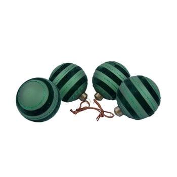 Set 4 decorațiuni pentru bradul de Crăciun Ego Dekor, negru - verde bonami.ro