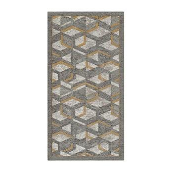 Traversă Floorita Hypnotik, 55 x 240 cm, gri-auriu bonami.ro