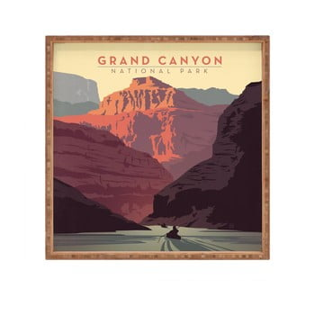 Tavă decorativă din lemn Grand Canyon, 40x40cm poza bonami.ro