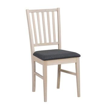 Scaun mat din lemn de stejar cu șezut negru Rowico Mimi